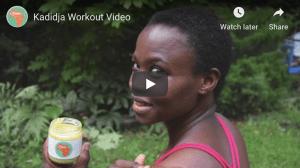 video thumbnail for kadidja workout video
